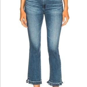 AG Jodi jeans with frayed hem